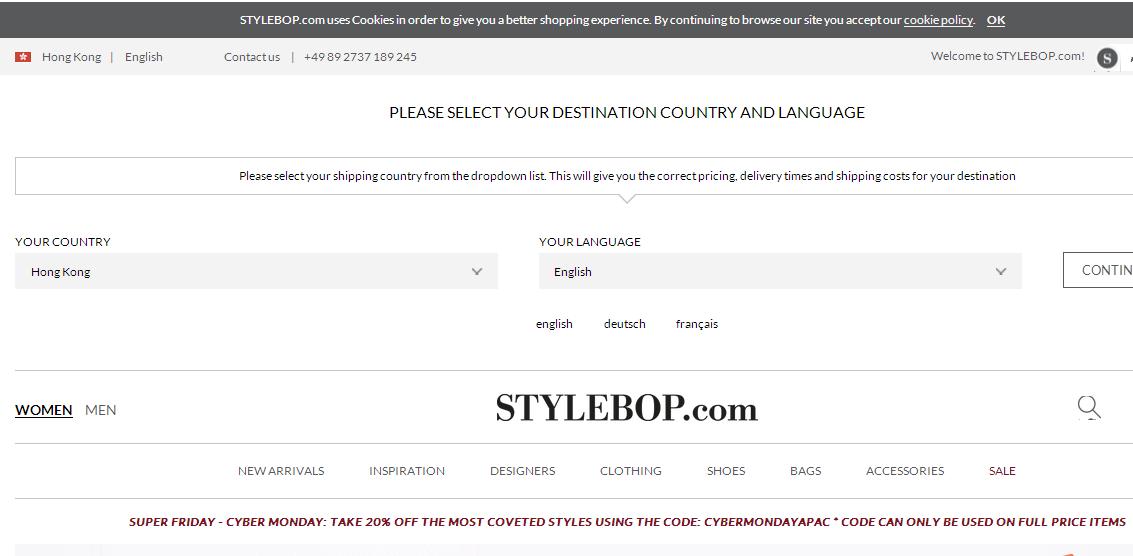 德國Stylebop限時8折/優惠碼/購物教學:必買Burberry頸巾6折優惠