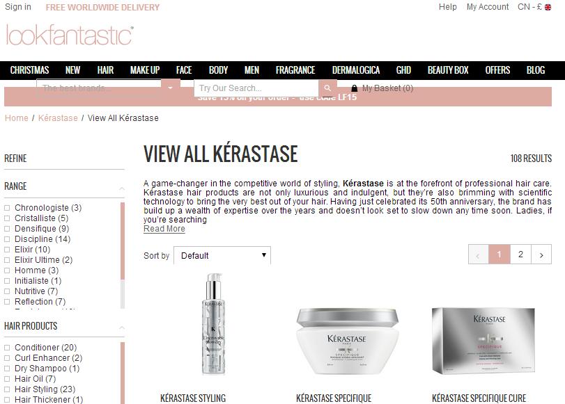 英國Lookfantastic網必買洗護品牌KÉRASTASE 限時7折+額外95折優惠碼