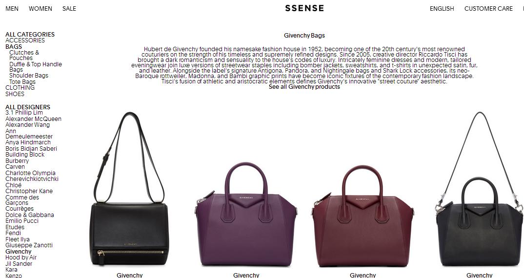 加拿大SSENSE網站購買Givenchy Pandora Bag 大減價 47 折起/必買品牌包包47折