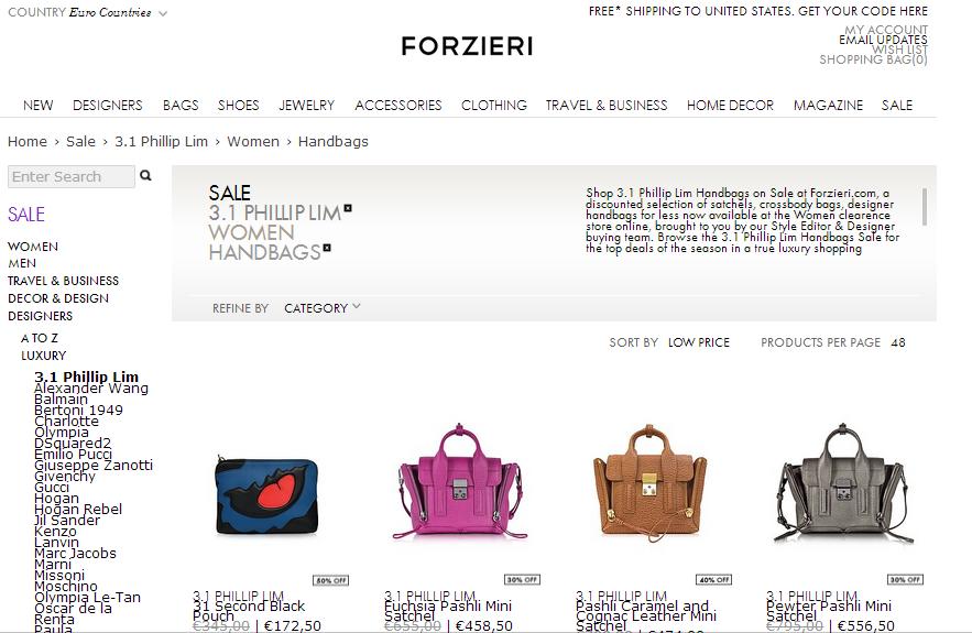 意大利 Forzieri 2017購買名牌低至5折+額外8折優惠碼/意大利Forzieri最新購買優惠