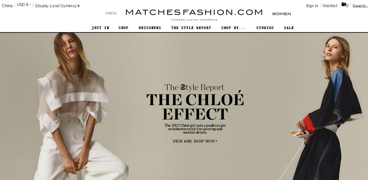 英國MATCHESFASHION最新網購優惠折扣碼/最多省300英磅折扣碼