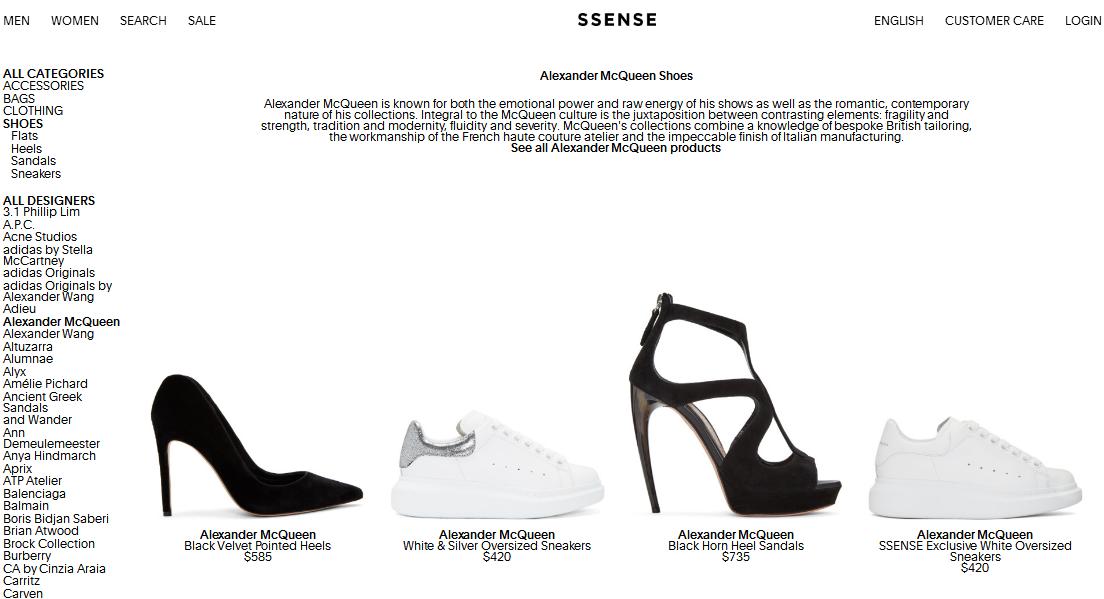 加拿購物網Ssense買Alexander McQueen運動鞋特價優惠碼+直運港澳
