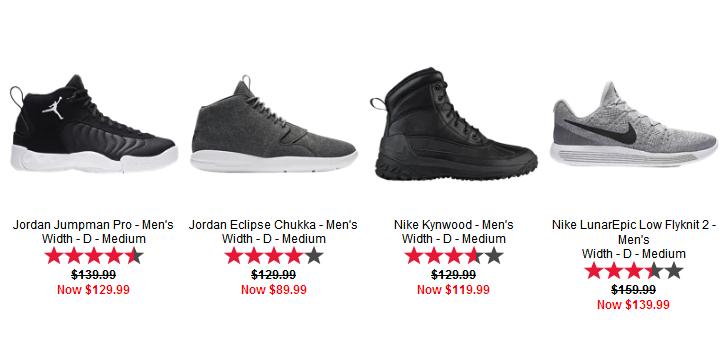Foot Locker2017優惠碼 限时折上折大促 Nike Jordan 男鞋超多款低價特賣 折後再打7折,抵!