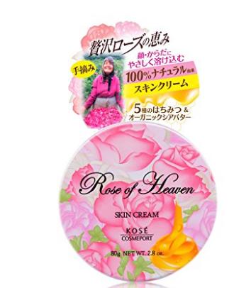日本亞馬遜優惠碼2018 KOSE高絲 Rose of Heaven 玫瑰天堂 香氛嫩肌面霜身體乳 80g 特價650日元(約¥38)