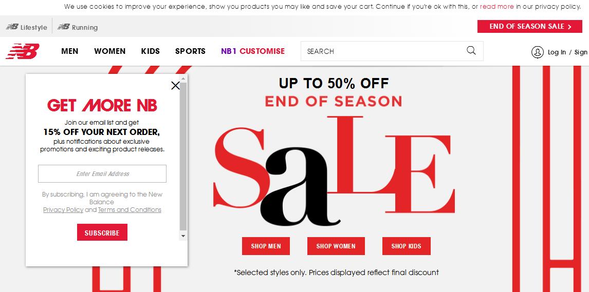 英國New Balance最新網購優惠碼2018/End Of Season Sale波鞋低至半價!