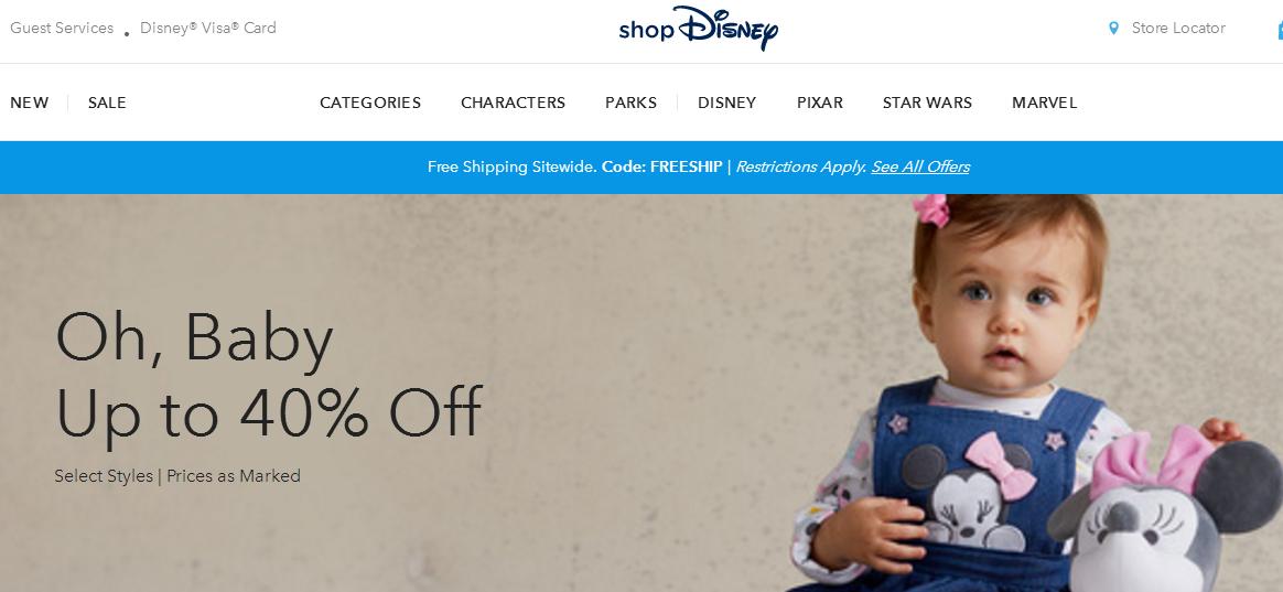 美國Shop Disney購嬰兒服裝及用品低至6折 最平價睡衣套裝只賣US$2.99