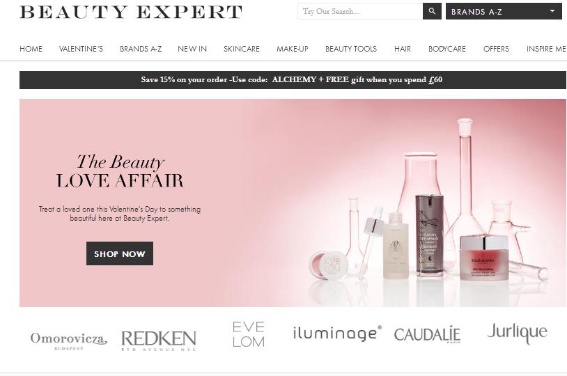 英國美容網站BeautyExpert 折扣碼/2018年情人節專場促銷7-95折優惠
