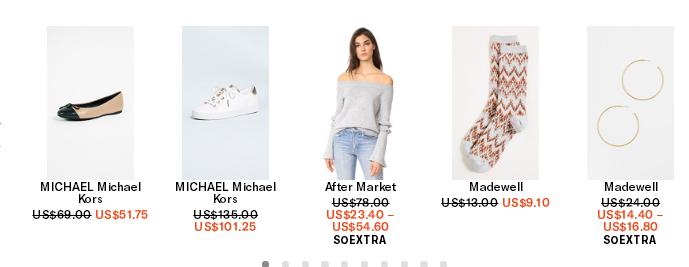 shopbop2018優惠碼 官網折扣區精選商品折上折熱賣低至3折+額外75折 免郵