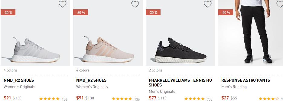 adidas阿迪達斯2018優惠碼  現有 鞋履,服飾等特價促銷,5折收Superstar 低至5折