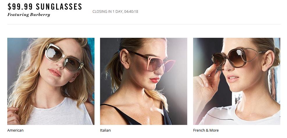 Rue La La2018優惠碼  Miu Miu、Chloe、Tom Ford等大牌墨鏡熱賣 一律$99.99 收超萌miumiu愛心墨鏡