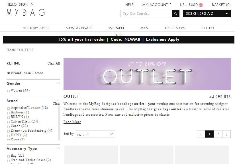 英國Mybag網購Marc Jacobs袋款低至香港73折+滿額免費直運港澳
