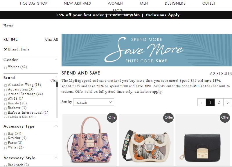 英國Mybag網最新7折優惠碼2018:購Furla Mini Bag包包低至HK$1,009+免運港澳
