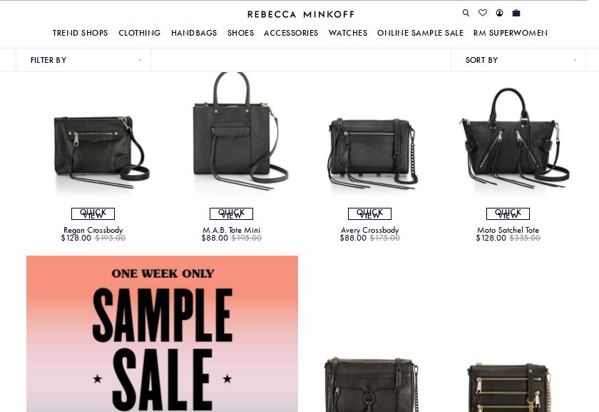美國官網Rebecca Minkoff最新優惠碼2018/Rebecca Minkoff 購名牌包包低至25折