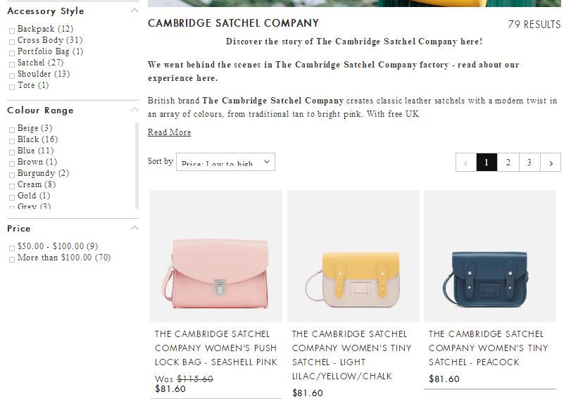 英國網站MyBag網購Cambridge Satchel劍橋包低至HK$420+免費直郵港澳,MyBag網購包包68折優惠碼