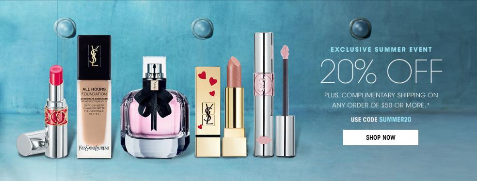YSL Beauty官網2018優惠碼  滿$50享優惠8折優惠 曡加3重好禮  8折+免郵+免費刻字 套裝也參加