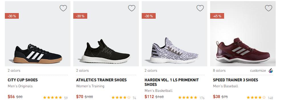 adidas官網2018折扣碼 熱銷款式促銷,更多新款加入 低至5折