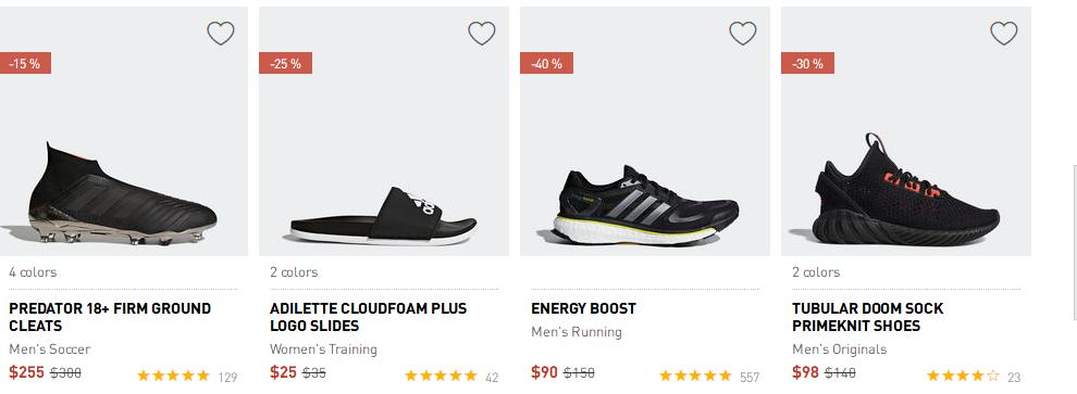 adidas官網2018優惠碼 上新 熱銷款式促銷,更多新款加入 低至5折 + 任意單免郵