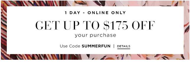 Saks2018優惠碼 限今天 大牌時尚品熱賣 星星鞋5.4折 低至6折 + 最高減$175 折扣區超低價