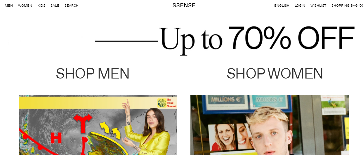 SSENSE官網2018年中大促優惠碼  大牌服飾/鞋履/包包低至3折熱賣