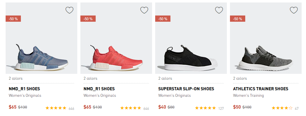 adidas官網2018優惠碼 adidas再度降價, 低至$65收NMD,$35收小椰子,半價收Ultraboost