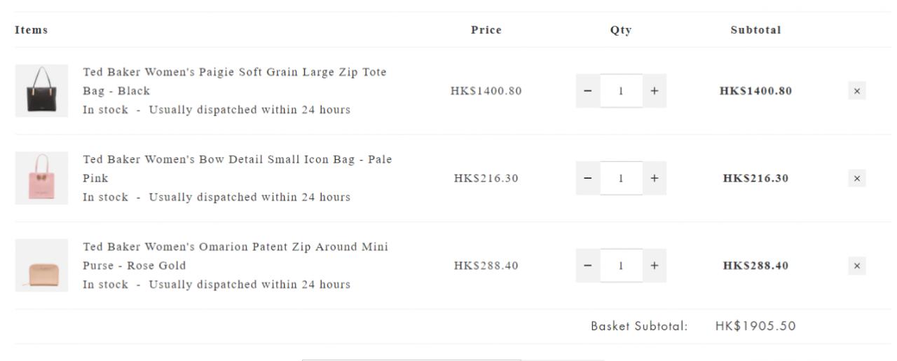 英國Mybag優惠碼2018  網購Ted Baker手袋銀包低至HK$216+免運費直送港/澳