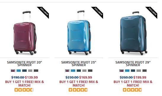 Samsonite新秀麗官網2018優惠碼 精選行李箱熱賣 買一送一 硬殼登機箱$39.99收!