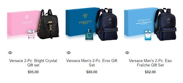 梅西百貨優惠碼2018 Macys梅西百貨優惠推荐買Versace香水送同品牌背包