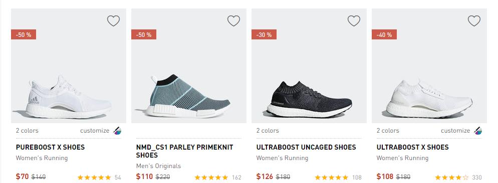 adidas2018優惠碼 $68收NMD,$24收小椰子 一律額外8折+免郵,新款也參加