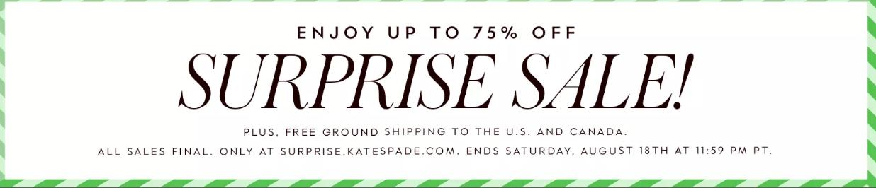 kate spade2018優惠碼 官網驚喜特賣會超值來襲 低至2.5折+免郵