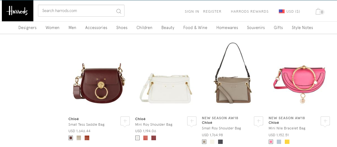 英國Harrods百貨2018年最新袋款Chloe抵買推介/Harrods優惠碼/Harrods優惠券
