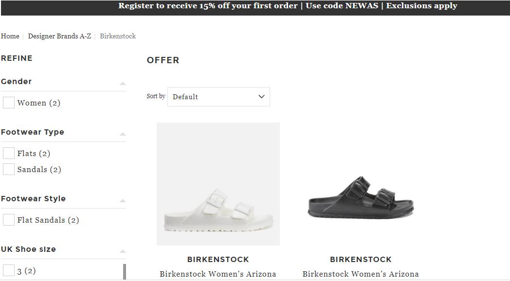 英國網站Allsloe限時優惠碼2018-網購Birkenstock經典EVA 拖鞋大特價只需HK$195.7,为香港67折