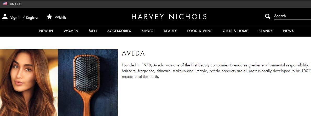 英國百貨Harvey Nichols優惠碼2018-網購天然護髮品牌AVEDA低至香港75折,香港免運自取