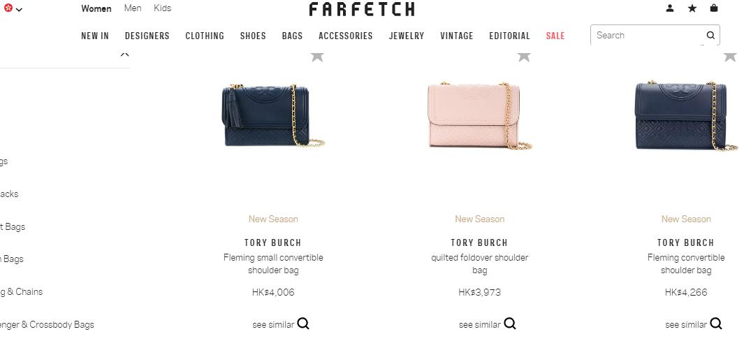 名牌網Farfetch最新優惠碼2018-黃金週9折優惠,Tory Burch包包超抵買推薦
