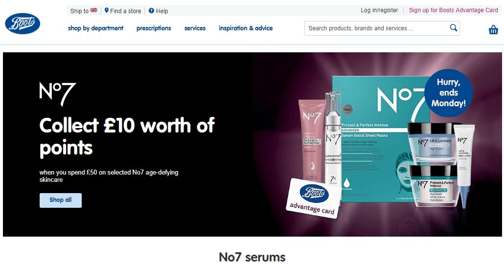 英國Boots官網最新必買護膚美妝品優惠碼/折扣碼/促銷折扣(無需用碼)