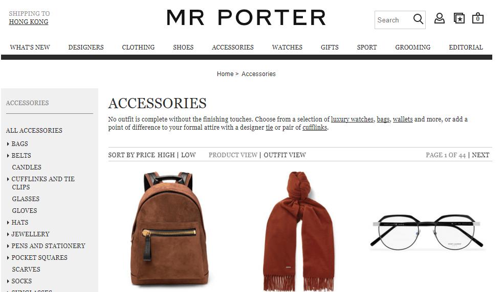英國名牌網Mr Porter男士聖誕節禮物促銷優惠/大牌包包鞋袋飾品網購低至香港65折