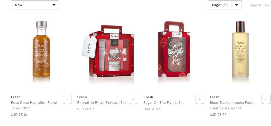 英國百貨Harrods官網購Fresh護膚聖誕禮盒低至香港8折,有退稅優惠