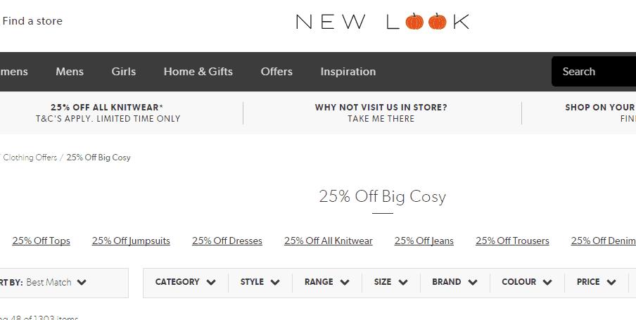 New look優惠碼2018/ NEW LOOK官網必買針織品限時75折優惠