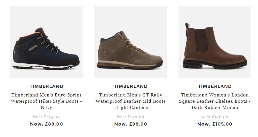 英國網站Allsole優惠碼2018, 購Timberland男女鞋款低至6折+限時額外9折優惠, 低至HK$815起