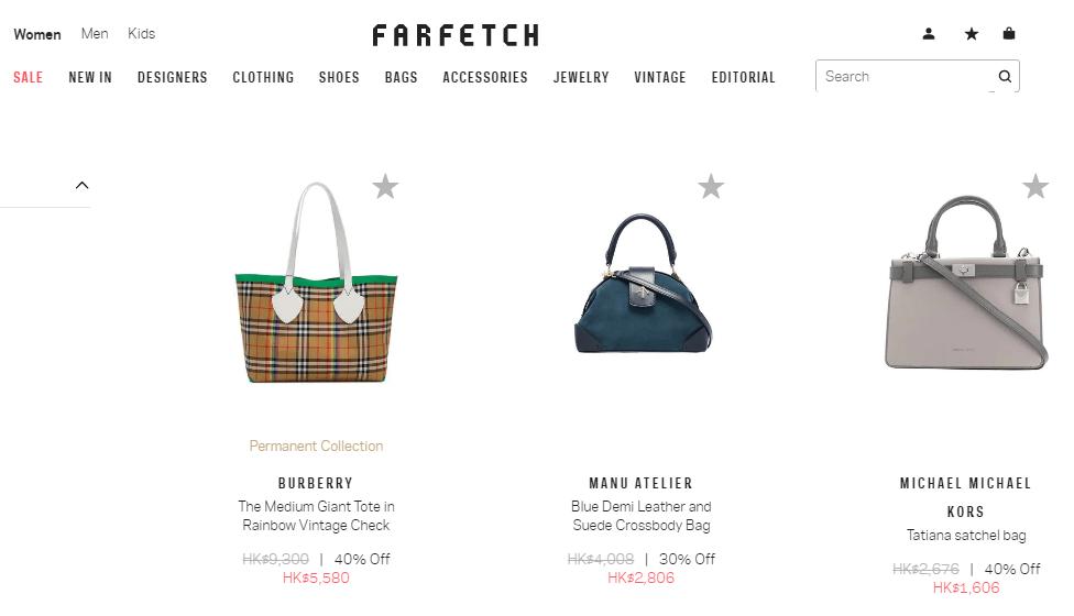 Farfetch名牌網2019折扣碼,  新年購平價靚袋低至3折,超多名牌包包精選推薦