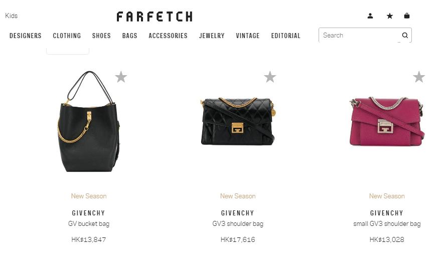 Farfetch官網優惠碼2019, 新春快閃大減價新款包包9折/法國名牌Givenchy包包低至香港價64折