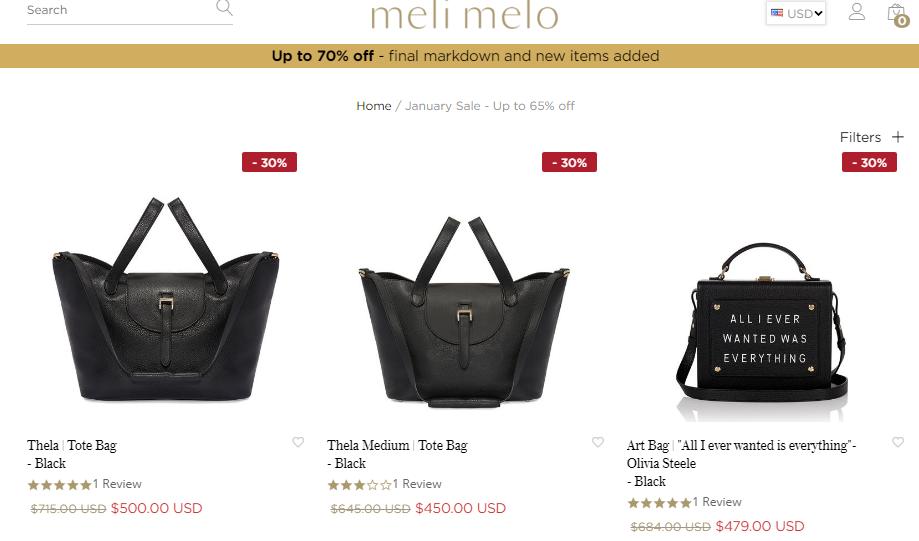 英國Meli Melo官網優惠碼2019,  各種名牌包包低至35折減價,超搶手優惠