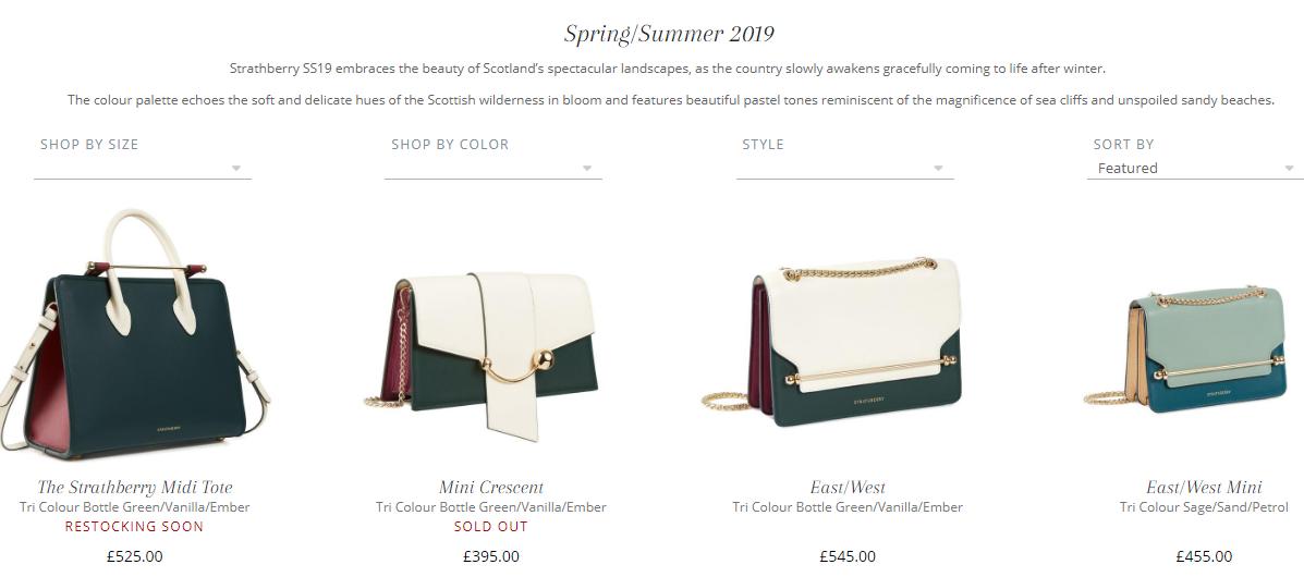 英國包包網站Strathberry優惠碼2019, 春夏最新款正式開賣, 粉色人氣少女包包特價推薦