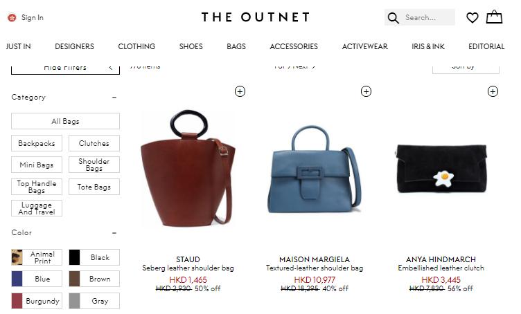 英國網站The Outnet優惠碼2019, the outnet購包包額外8折, See By Chloe包包減價低至5折