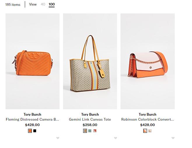 美國百貨Shopbop官網優惠碼2019, shopbop必敗超多靚款包包,Tory Burch最新包包推介