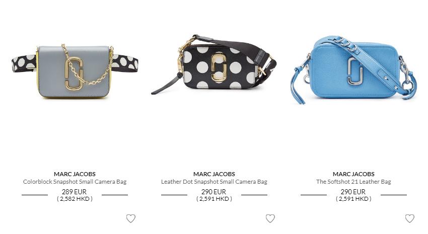 歐洲網站Stylebop優惠碼2019, 全線包包激抵8折優惠, 購Marc Jacobs包包低至香港價錢56折起