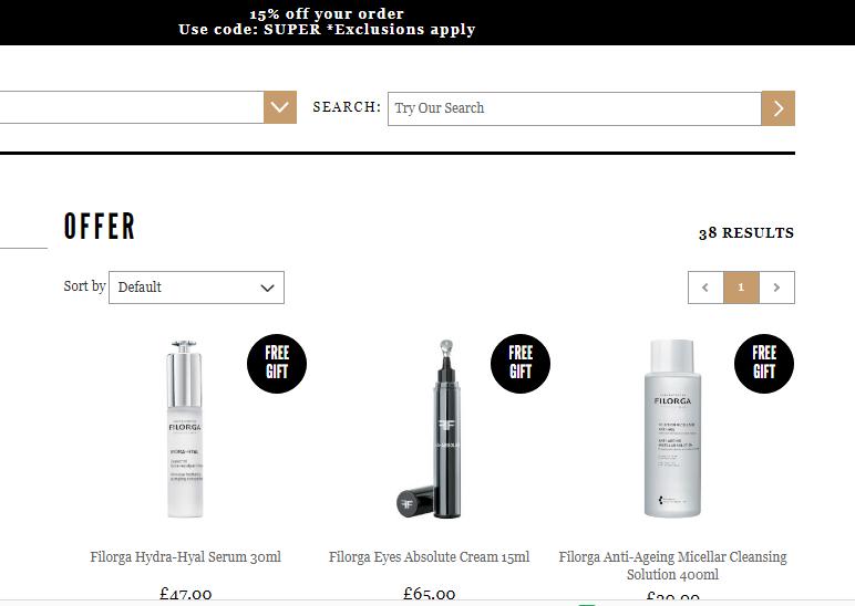 2019年4月Mankind優惠代碼-Mankind獨家折扣碼-購護膚品牌Filorga有75折優惠