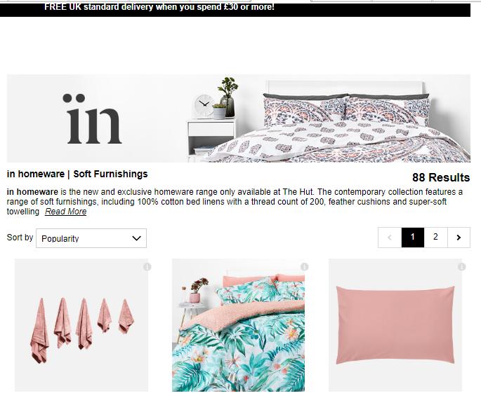 2019年4月The Hut優惠代碼, 限時折扣碼/免郵, 英國家居品牌In Homeware高級純棉毛巾低至75折