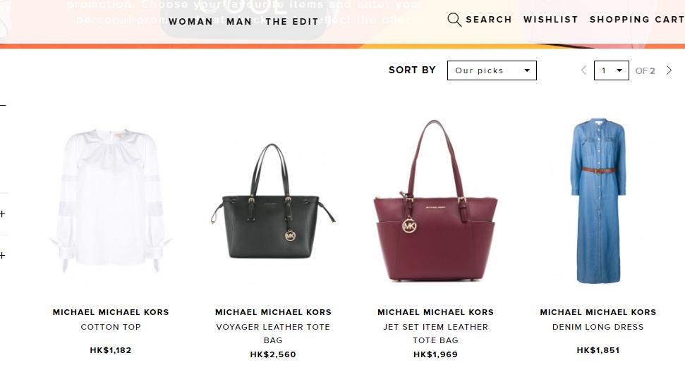 意大利Tessabit名牌網破天荒半價,Michael Kors包包限時獨家5折優惠,最平HK$178