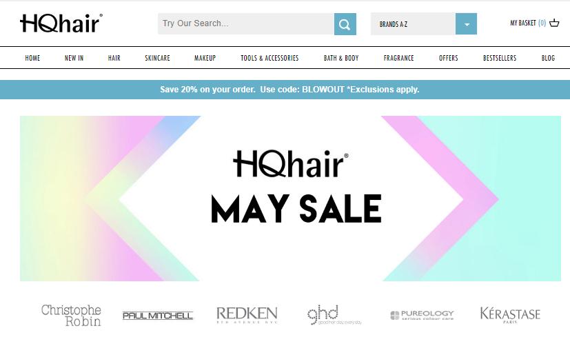 HQhair官網頭髮用品專區產品75折特惠,還有更多護膚品好價等你拿