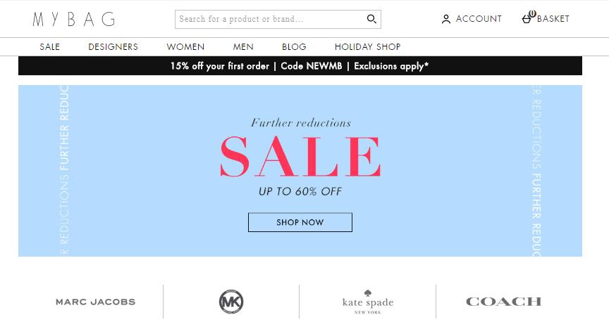 MyBag.com網站2019年7月精选時裝進一步降價低至4折